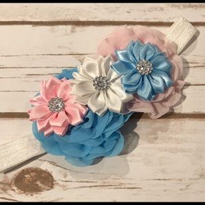 Other - B2G1 💙 Girls Pink and Blue Floral Headband